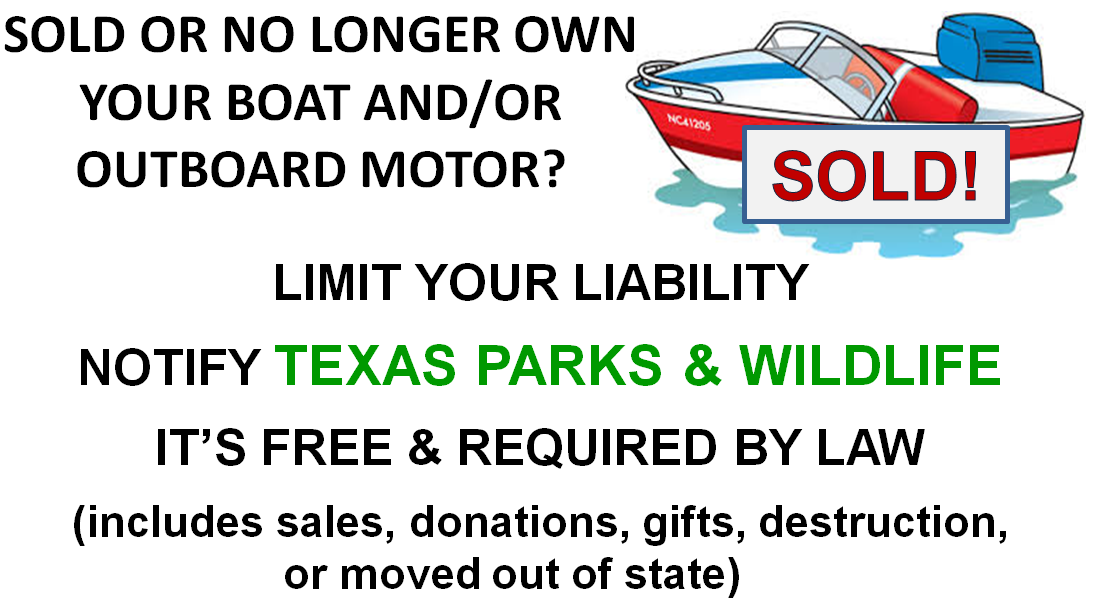 Texas Vehicle Transfer Notification >> Tpwd Boat Motor Owner Transfer Notification